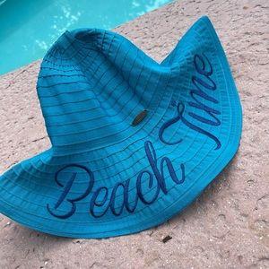"Panama jack ""beach time"" monogrammed hat"